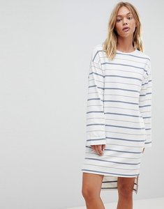 Read more about Native youth breton wide sleeve dress - blue white