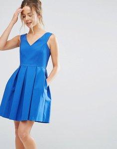 Read more about Closet london v neck skater dress - blue