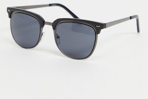 Read more about Asos design retro sunglasses in gunmetal matte black - gunmetal