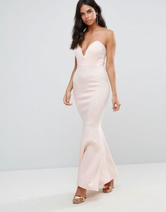 Read more about Club l scuba deep plunge bandeau maxi dress - as is