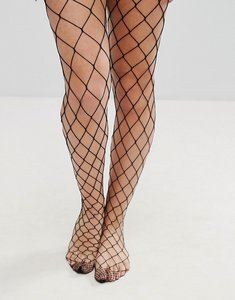 Read more about Asos design oversized fishnet tights - black