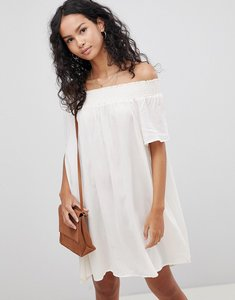 Read more about Glamorous off shoulder dress - ecru
