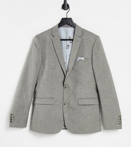 Read more about Harry brown taupe textured stretch skinny fit wedding suit jacket - multi