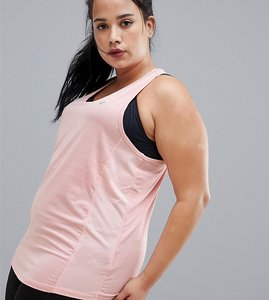 Read more about Only play curvy alma plus training tank top - silver pink