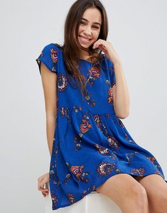 Read more about Brave soul floral print smock dress - royal blue