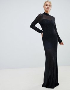 Read more about Forever unique embellished sheer maxi dress - black
