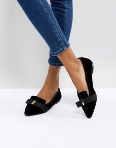 Read more about Miss kg larissa velvet pointed shoes - black