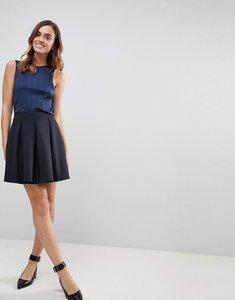 Read more about Asos scuba box pleat mini skirt - black
