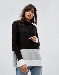 Read more about Oasis side split colourblock jumper - multi