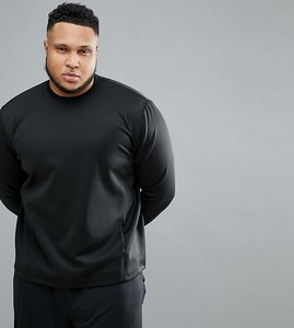 Read more about Asos 4505 plus sweatshirt in 4 way stretch jersey - black