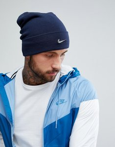 Read more about Nike metal swoosh beanie in navy 803734-451 - navy