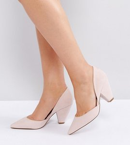 Read more about Asos sulphur wide fit pointed heels - nude