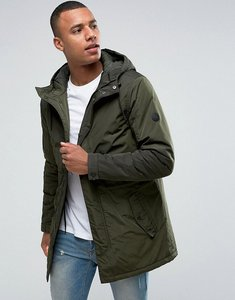 Read more about Solid lightweight hooded parka - 3400