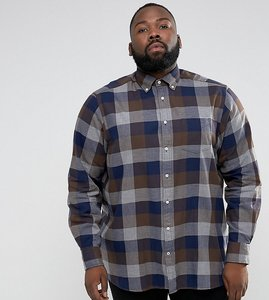 Read more about Tommy hilfiger plus gingham check shirt flannel buttondown regular fit in brown - delicioso