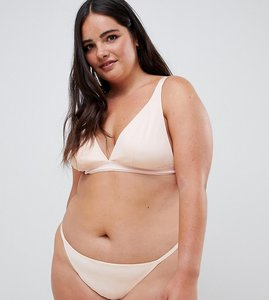 3f83d3b410 Read more about Asos design curve basic microfibre thong in tonal beige -  beige