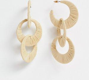 2f621b94a stradivarius triple hoop link earrings multi - Shop stradivarius ...