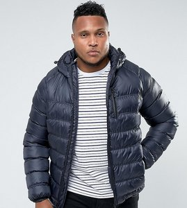 Read more about Bellfield plus lightweight padded jacket with hood - navy