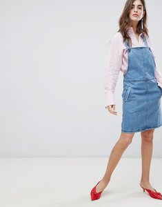 Read more about Gestuz margaret denim pinafore dress - 90s blue