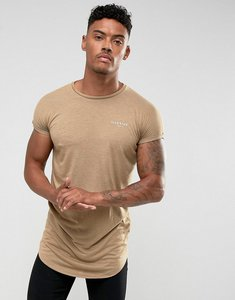 Read more about Illusive london t-shirt in stone with rolled sleeves - stone