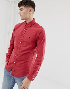 Read more about Polo ralph lauren slim fit garment dyed shirt with button down collar in red