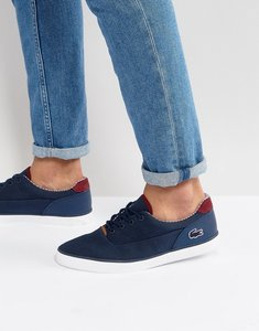 Read more about Lacoste jouer lace up plimsolls - navy