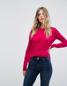 Read more about Warehouse round neck jumper - bright pink