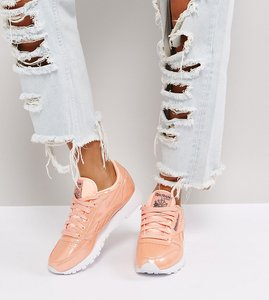 Read more about Reebok classic patent pearl leather trainers in pink - pink