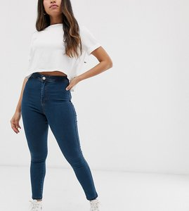 34fa7e32c5f52b Read more about Asos design petite rivington high waisted denim jeggings in  flat mid wash blue