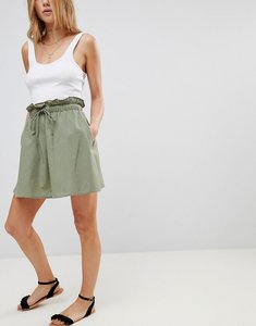 Read more about Asos cotton mini skater skirt with pockets - green