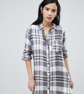 Read more about Wednesday s girl shirt dress in check - grey pink check