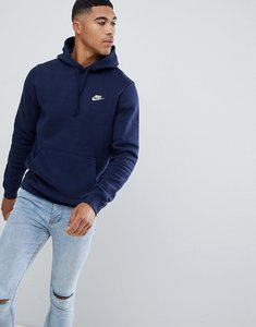 Read more about Nike pullover hoodie with swoosh logo in blue 804346-451 - blue