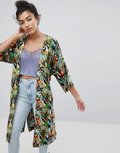 Read more about Y a s it s a beach printed kimono jacket - multi