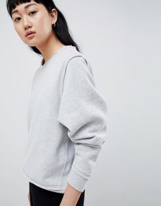 Read more about Selected femme sweatshirt with raw seams - grey