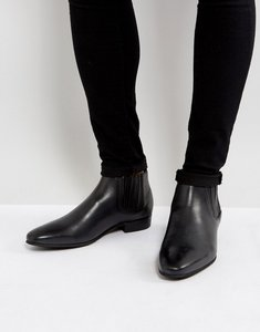 Read more about Hudson london zelus leather chelsea boots in black - black