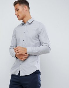 Read more about Kiomi slim fit shirt in grey melange - grey melange
