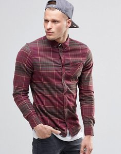 Read more about Element buffalo check flannel shirt in regular fit in napa red buttondown - red