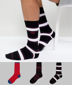 Read more about Pringle rosewell socks 3 pack - multi