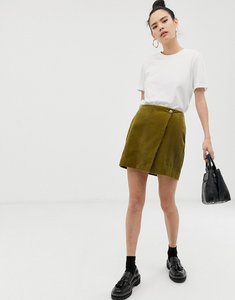 Read more about Asos design mini skirt with wrap in cord