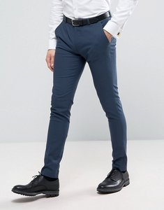 Read more about Asos wedding super skinny suit trousers in petrol blue - blue
