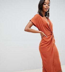 8c42616bf41e Read more about Asos design tall twist midi dress with kimono sleeve