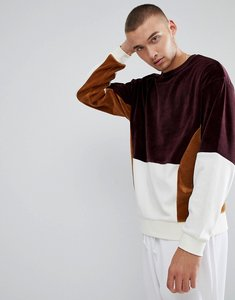 Read more about Asos oversized sweatshirt with velour colour block - kidney