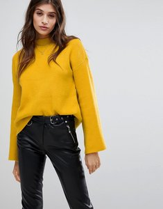 Read more about Vero moda high neck flared sleeve jumper - yellow