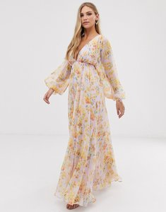Read more about Asos edition blouson sleeve maxi dress in delicate floral print