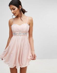 Read more about Pussycat london embellished prom dress - pink