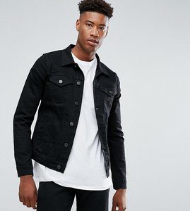 Read more about Selected homme tall denim jacket - black denim 1001