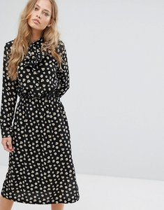 Read more about Suncoo printed midi dress - black
