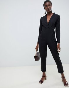 Read more about Asos design tux jumpsuit - black