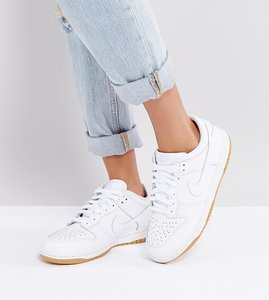 Read more about Nike dunk low essential trainers in white - white