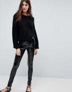 Read more about Glamorous vinyl leggings - black