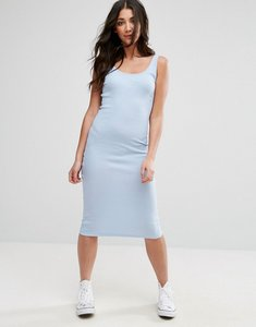 Read more about Brave soul sleeveless rib midi dress - pale blue